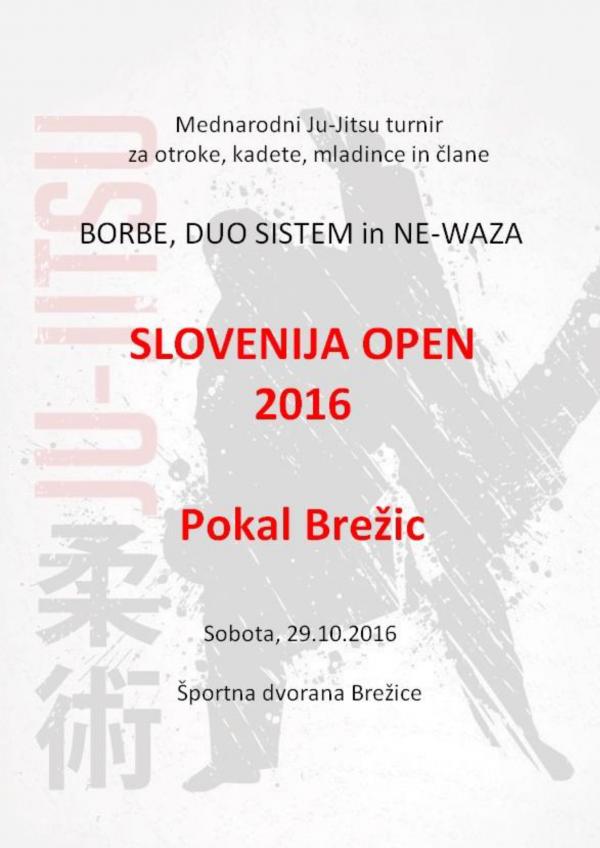 Pokal Brežic – 29.10.2016 – Slovenija Open